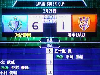 ○ 6−1 清水エスパルス JapanSuperCup(25)