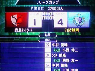 ○ 1−4 鹿島アントラーズ Jリーグカップ(25-2-1)