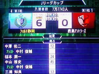 ○ 6−0 鹿島アントラーズ Jリーグカップ(25-2-2)